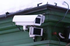 Câmera do CCTV na parede foto de stock