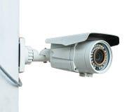 Câmera do CCTV no fundo branco Imagens de Stock Royalty Free