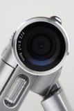 Câmera do Close-up DV isolada no fundo branco imagens de stock royalty free