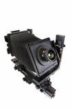 A câmera do estúdio para uma película de folha fotos de stock