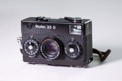 Câmera do filme do clássico 35mm de Rollei 35S Fotos de Stock