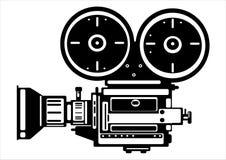 Câmera do filme do vintage do vetor isolada no branco Imagem de Stock