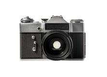 Câmera do filme do vintage no fundo branco Fotos de Stock Royalty Free