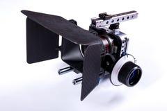 Câmera do filme em um fundo branco Fotografia de Stock Royalty Free