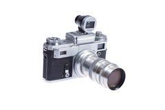 Câmera do Rangefinder com viewfinder adicional foto de stock