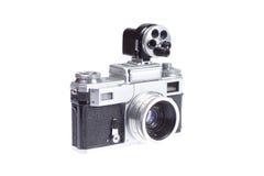Câmera do Rangefinder com viewfinder adicional fotografia de stock