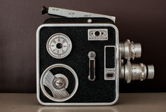 Câmera do rangefinder do vintage isolada sobre o branco Imagens de Stock Royalty Free