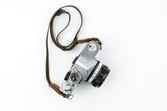 Câmera do rangefinder do vintage isolada sobre o branco Imagens de Stock