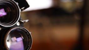 câmera do vintage do filme de 35mm video estoque