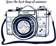 Câmera do vintage 35mm SLR ilustração royalty free