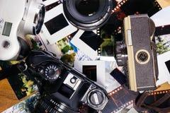 Câmera do vintage 35mm SLR Imagens de Stock