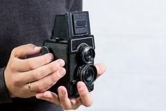 Câmera do vintage 35mm SLR Foto de Stock