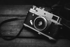 Câmera do vintage 35mm SLR Fotos de Stock Royalty Free