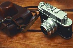 Câmera do vintage 35mm SLR Foto de Stock Royalty Free