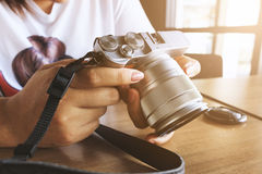 Câmera do vintage 35mm SLR Fotos de Stock
