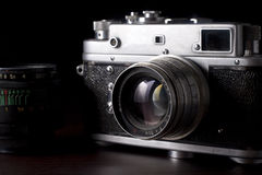 Câmera do vintage SLR foto de stock royalty free