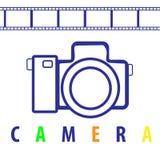 Câmera e filme Imagem de Stock