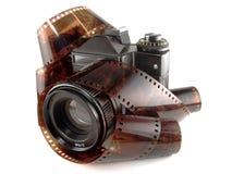 Câmera e película Imagem de Stock Royalty Free