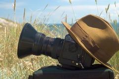 Câmera e tampão Foto de Stock Royalty Free