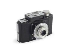 Câmera fotográfica isolada sobre o branco Imagem de Stock Royalty Free