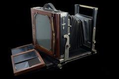 Câmera imóvel de grande formato da antiguidade 5x7 fotografia de stock