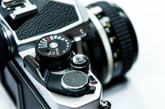 Câmera isolada no branco. Imagens de Stock Royalty Free