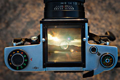 Câmera média do formato Fotos de Stock