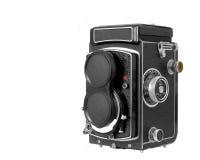 Câmera média do formato de Tlr Imagem de Stock Royalty Free