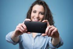 Câmera móvel Fotos de Stock