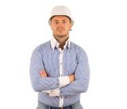 Câmera masculina séria de Crossing Arms Looking do coordenador Imagem de Stock