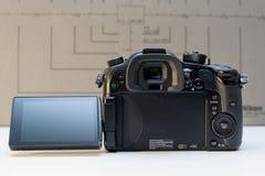 Câmera mirrorless de Panasonic Lumix DMC-GH4 Fotografia de Stock