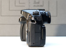 Câmera mirrorless de Panasonic Lumix DMC-GH4 Fotos de Stock