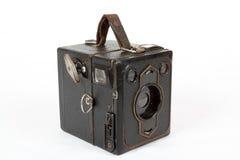 Câmera muito velha do vintage no fundo branco Imagens de Stock Royalty Free