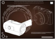 Câmera no marrom ilustração stock
