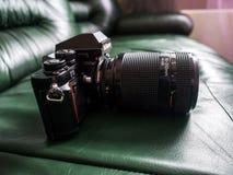 Câmera profissional de SLR do filme do F3 de Nikon do vintage Fotos de Stock Royalty Free