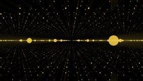 Câmera que move-se em um laço do espaço infinito da grade 3d Fundo alto do movimento da definição que caracteriza um túnel infini Imagens de Stock