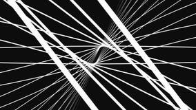 Câmera que move-se em um laço do espaço infinito da grade 3d Fundo alto do movimento da definição que caracteriza um túnel infini ilustração do vetor