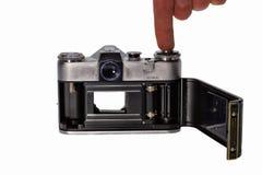 Câmera reflexo do filme da lente Fotos de Stock