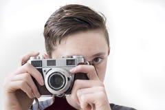 Câmera retro Imagens de Stock