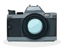 Câmera retro do foto dos desenhos animados Fotografia de Stock Royalty Free