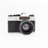 Câmera retro velha do filme Configuração lisa, vista superior Foto de Stock Royalty Free