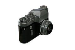 Câmera retro velha em um fundo isolado Fotografia de Stock