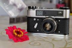 Câmera soviética do rangefinder do pequeno-formato Fotografia de Stock