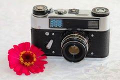 Câmera soviética do rangefinder do pequeno-formato Imagens de Stock