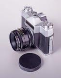 Câmera soviética velha de SLR do filme Foto de Stock