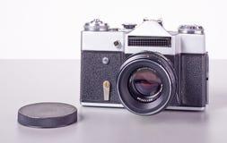 Câmera soviética velha de SLR do filme Fotografia de Stock