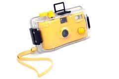 Câmera subaquática amarela Fotografia de Stock Royalty Free
