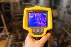 Câmera Thermographic Fotografia de Stock