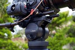 Câmera/tripé Fotografia de Stock