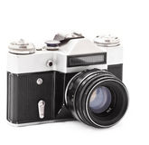 Câmera velha da foto Imagens de Stock